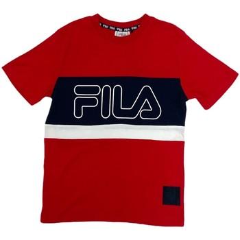 tekstylia Dziecko T-shirty z krótkim rękawem Fila 688138 Czerwony