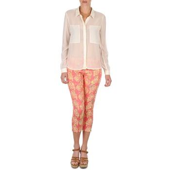 tekstylia Damskie Krótkie spodnie Manoush PANTALON GIPSY JEANS Różowy