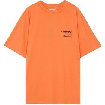 tekstylia Męskie T-shirty z krótkim rękawem Sixth June T-shirt  barcode orange
