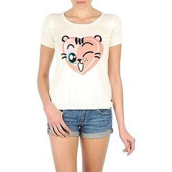 tekstylia Damskie T-shirty z krótkim rękawem Manoush TEE SHIRT VALENTINE Ecru