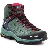 Buty Damskie Trekking Salewa Buty trekkingowe  WS Alp Trainer 2 Mid GTX 61383-5085 oliwkowozielony