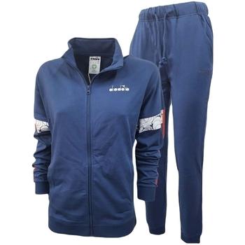 tekstylia Męskie Zestawy dresowe Diadora Fz Core Niebieski