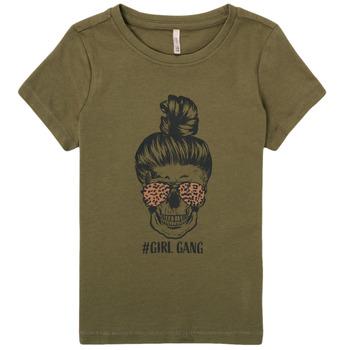 tekstylia Dziewczynka T-shirty z krótkim rękawem Only KONKITA Kaki