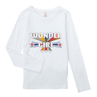 tekstylia Dziewczynka T-shirty z długim rękawem Only KONTINNA Biały