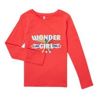 tekstylia Dziewczynka T-shirty z długim rękawem Only KONTINNA Różowy