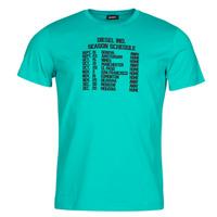 tekstylia Męskie T-shirty z krótkim rękawem Diesel T-DIEGOS Niebieski