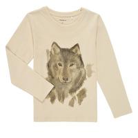 tekstylia Chłopiec T-shirty z długim rękawem Name it NMMKEVIN LS TOP Beżowy
