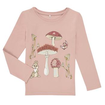 tekstylia Dziewczynka T-shirty z długim rękawem Name it NMFTHUMPER ALFRIDA LS TOP Fioletowy