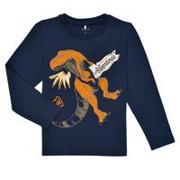 tekstylia Chłopiec T-shirty z długim rękawem Name it NMMLUKASO LS TOP Marine