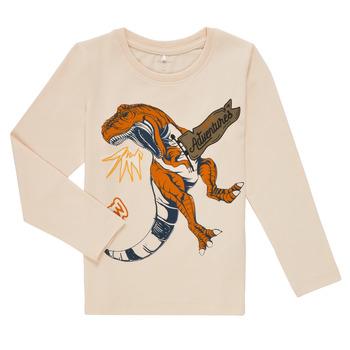 tekstylia Chłopiec T-shirty z długim rękawem Name it NMMLUKASO LS TOP Biały