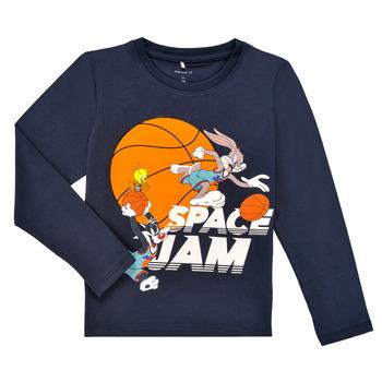 tekstylia Chłopiec T-shirty z długim rękawem Name it NMMSPACEJAM ARNE LS TOP Marine