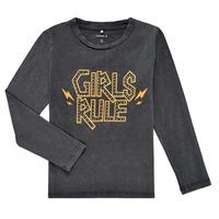 tekstylia Dziewczynka T-shirty z długim rękawem Name it NKFNEBEL LS TOP Czarny