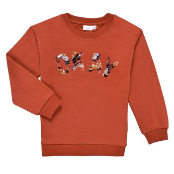 tekstylia Dziewczynka Bluzy Name it NKFOCALI LS SWEAT Czerwony