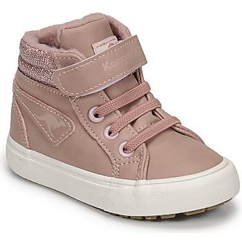 Buty Dziewczynka Trampki wysokie Kangaroos KAVU III Różowy