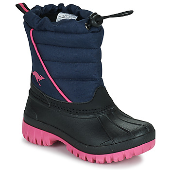 Buty Dziewczynka Śniegowce Kangaroos K-BEN Niebieski / Różowy