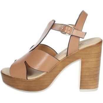 Buty Damskie Sandały Repo 56247-E1 'Brązowy skóra