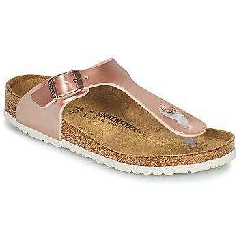 Buty Dziewczynka Japonki Birkenstock GIZEH Różowy / Złoty