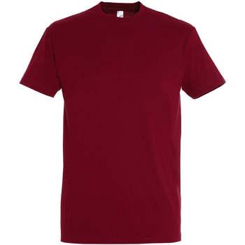 tekstylia Damskie T-shirty z krótkim rękawem Sols IMPERIAL camiseta color Chili Rojo