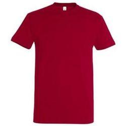 tekstylia Damskie T-shirty z krótkim rękawem Sols IMPERIAL camiseta color Rojo Tango Rojo