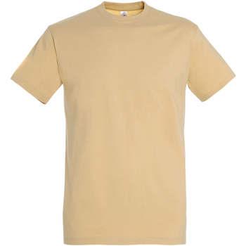 tekstylia Damskie T-shirty z krótkim rękawem Sols IMPERIAL camiseta color Arena Beige