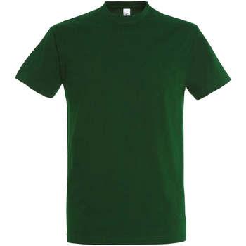 tekstylia Damskie T-shirty z krótkim rękawem Sols IMPERIAL camiseta color Verde Botella Verde