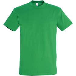 tekstylia Damskie T-shirty z krótkim rękawem Sols IMPERIAL camiseta color Verde Pradera Verde