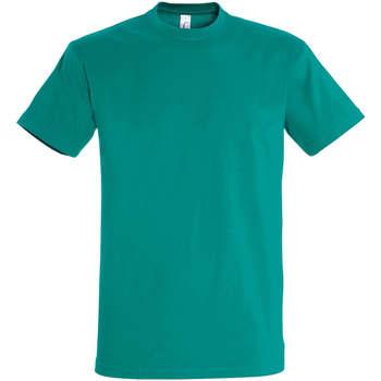 tekstylia Damskie T-shirty z krótkim rękawem Sols IMPERIAL camiseta color Esmeralda Verde