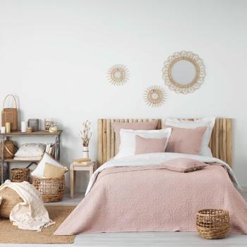 Dom Narzuta Douceur d intérieur FLORETTE Różowy