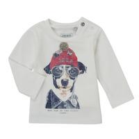tekstylia Chłopiec T-shirty z długim rękawem Ikks AUBERGINE Biały