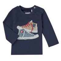 tekstylia Chłopiec T-shirty z długim rękawem Ikks AURORE Marine