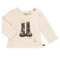 tekstylia Dziewczynka T-shirty z długim rękawem Ikks PAON Biały