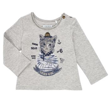 tekstylia Dziewczynka T-shirty z długim rękawem Ikks PERSAN Szary