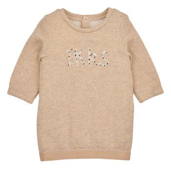 tekstylia Dziewczynka Sukienki krótkie Ikks CHAMOIS Beżowy