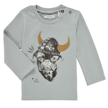 tekstylia Chłopiec T-shirty z długim rękawem Ikks CHAUDRON Niebieski