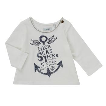 tekstylia Dziewczynka T-shirty z długim rękawem Ikks CHOCOLAT Biały