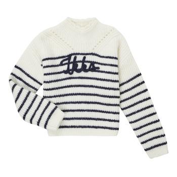 tekstylia Dziewczynka Swetry Ikks CITRON Biały