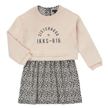 tekstylia Dziewczynka Sukienki krótkie Ikks MENTHE Beżowy