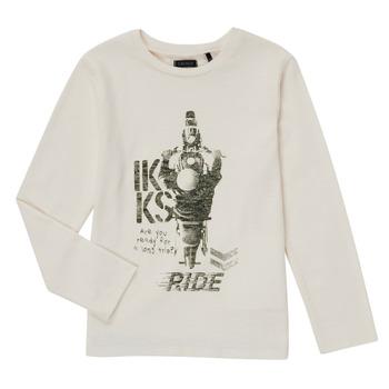 tekstylia Chłopiec T-shirty z długim rękawem Ikks CERISE Biały