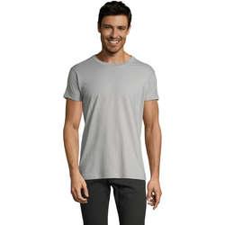 tekstylia Męskie T-shirty z krótkim rękawem Sols Camiseta IMPERIAL FIT color Gris  puro Gris