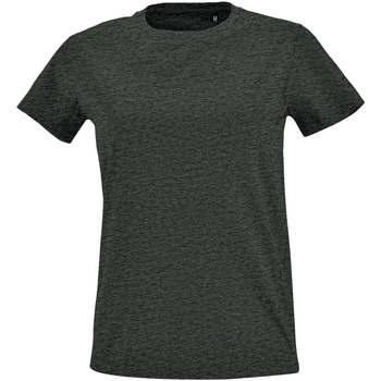 tekstylia Damskie T-shirty z krótkim rękawem Sols Camiseta IMPERIAL FIT color Antracita Gris