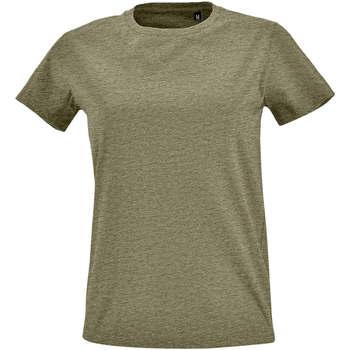 tekstylia Damskie T-shirty z krótkim rękawem Sols Camiseta IMPERIAL FIT color Caqui Kaki