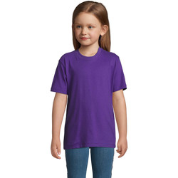 tekstylia Dziecko T-shirty z krótkim rękawem Sols Camista infantil color Morado Violeta