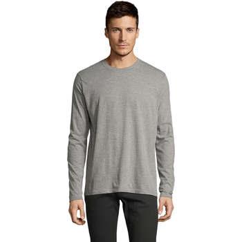 tekstylia Męskie T-shirty z długim rękawem Sols Camiseta manga larga Gris
