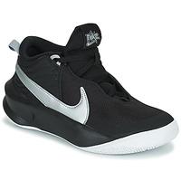 Buty Dziecko Trampki wysokie Nike TEAM HUSTLE D 10 (GS) Czarny / Argenté