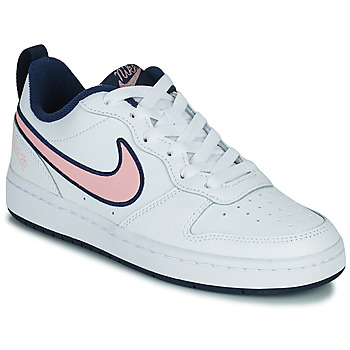 Buty Dziecko Trampki niskie Nike COURT BOROUGH LOW 2 SE1 (GS) Biały / Różowy