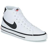 Buty Męskie Trampki wysokie Nike NIKE COURT LEGACY CNVS MID Biały / Czarny