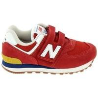 Buty Chłopiec Trampki niskie New Balance PV574 C Rouge Czerwony