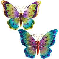 Dom Statuetki i figurki  Signes Grimalt Barwione Szkło W Motyle Września 2U Multicolor