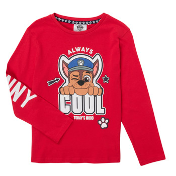 tekstylia Chłopiec T-shirty z długim rękawem TEAM HEROES  TEE PAW PATROL Czerwony