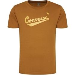 tekstylia Męskie T-shirty z krótkim rękawem Converse Center Front Logo Brązowy